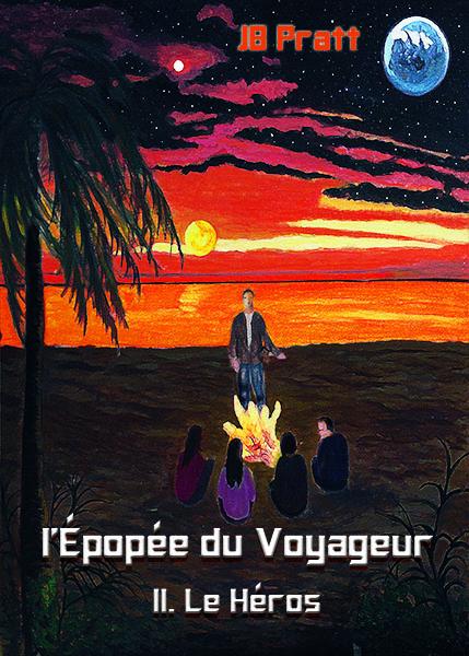 La couverture du second tome des aventures du Voyageur, le Héros